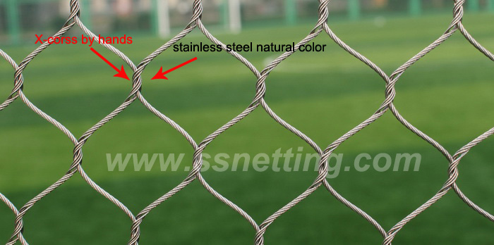 zoo netting 100% hand woven by stainless steel ropes