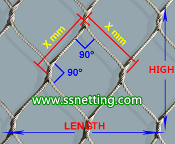 stainless steel metal braided rope net, hand woven steel wire rope mesh for animal cage mesh, zoo fence mesh, hand woven stainless steel wire mesh, metal braided rope net, Woven by hand wire rope mesh, stainless steel wire rope mesh