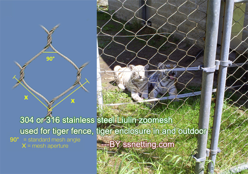 Mesh code #3276 is suitable for tiger enclosure