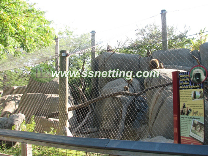 Monkey wire rope netting, X-corss mesh, zoo mesh code #1638