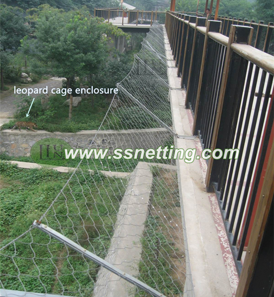 Animal cage safety mesh,stainless steel wire rope soft mesh,wire rope fence netting