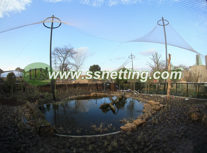Large outdoor cage netting, animal cage fence, zoo animal enclosure