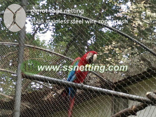 High quality Macaw Parrots cage netting