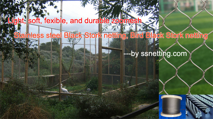 Light, soft, fexible, and durable zoomesh of Stainless steel Black Stork netting, Bird Black Stork netting.jpg