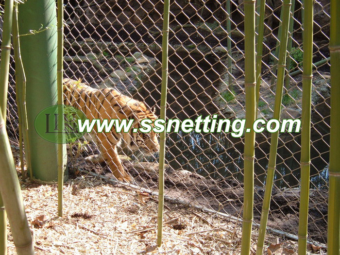 Wire cable woven mesh for large wildlife park fence, safari park fence, animal park saparation netting