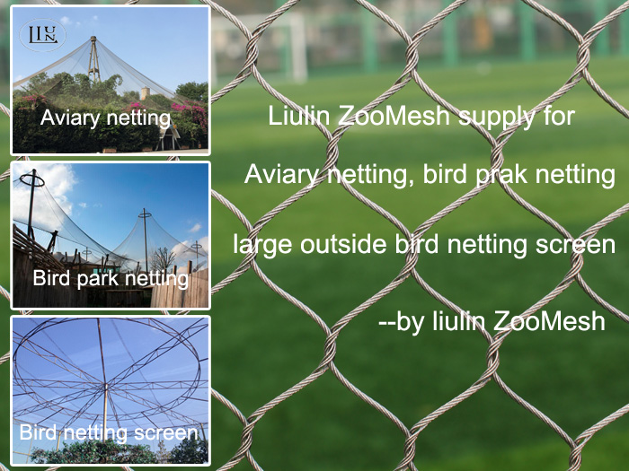 Stainless steel Zoo mesh products will give zoo animals a long time home safety fence