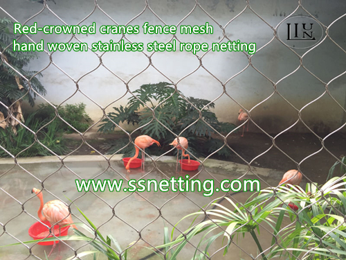 1.6mm, 51mm x 51mm, Zoo flamingo netting products saled by liulin zoo mesh factory in China
