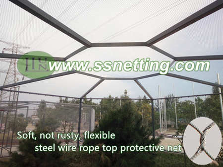stainless steel metal braided rope net, hand woven steel wire rope mesh for animal cage mesh, zoo fence mesh