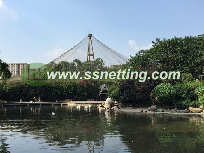 Stainless steel wire rope mesh project cases in Chengdu Zoo, China