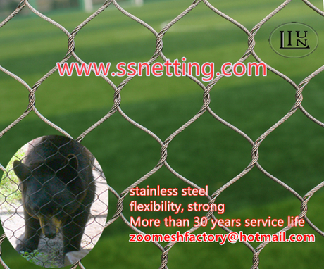 bear cage fence mesh,black bear protection net, stainless steel bear enclosure.jpg