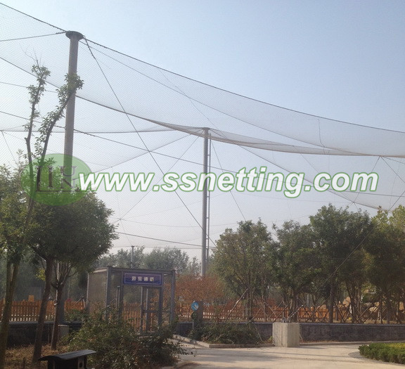 Sale Stainless steel bird park fencing, Wire rope netting mesh for bird garden, Bird aviary fencing