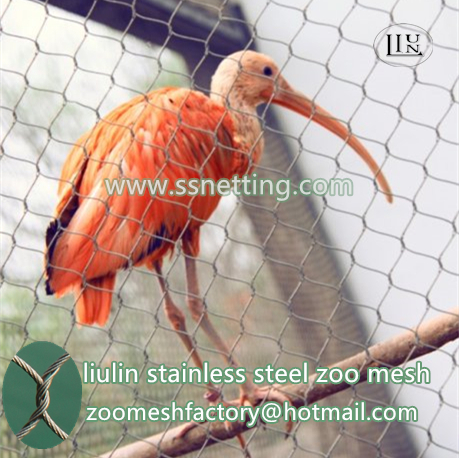 Zoo mesh for sale, zoo cage fence mesh, zoo netting suppliers, zoo mesh for aviary netting, zoo mesh, zoo netting, zoo animal cage mesh, zoo cage fence mesh, aviary mesh, zoo aviary netting, bird cage mesh, zoo fence, animal enclosure mesh Liulin stainless steel zoo mesh