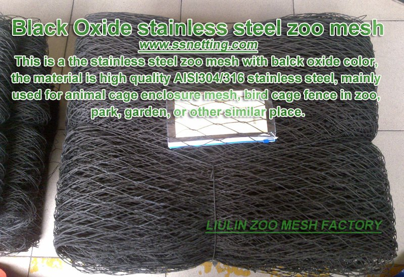 Black Oxide stainless steel zoo mesh
