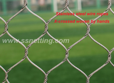 High quality stainless steel zoo mesh for zoo cages fence