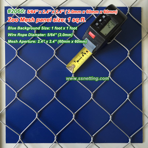 "Stainless Steel Wire Mesh 5/64"", 2.4"" X 2.4"", ( 2.0mm, 60mm X 60mm)"