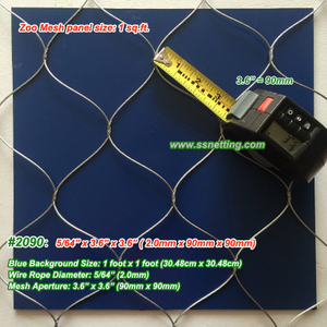 "Stainless Steel Metal Mesh 5/64"", 3.6"" X 3.6"", ( 2.0mm, 90mm X 90mm)"