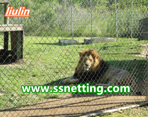 sale for lion fence netting, lion cage fence, lion enclosure fence netting mesh