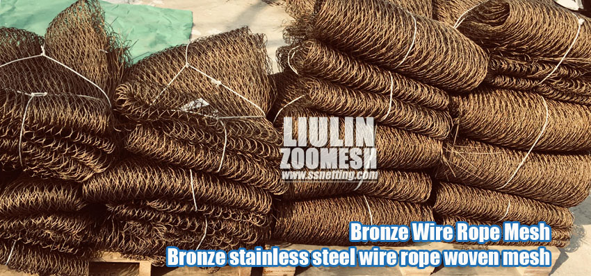The benefits of copper-colored stainless steel rope mesh