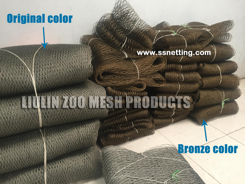 Stainless steel Zoo mesh feathers