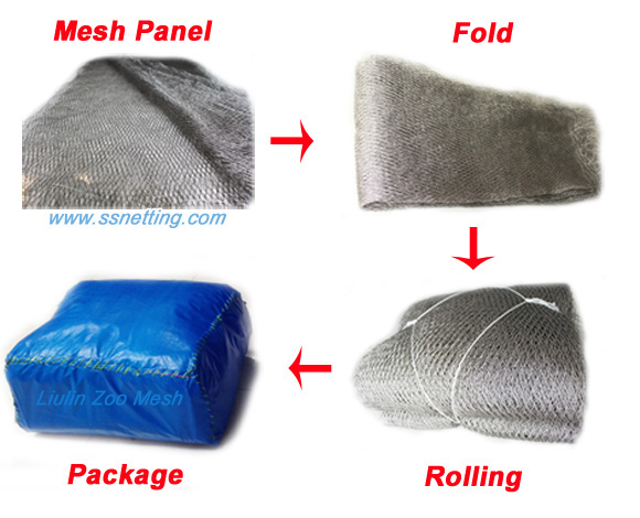 stainless steel wire rope mesh packing