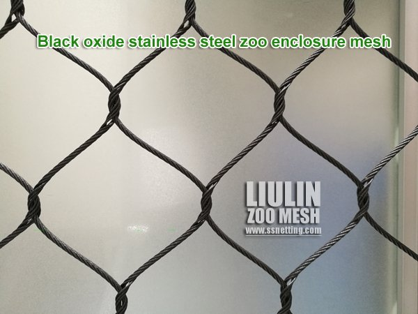 Black oxide stainless steel zoo enclosure mesh.jpg