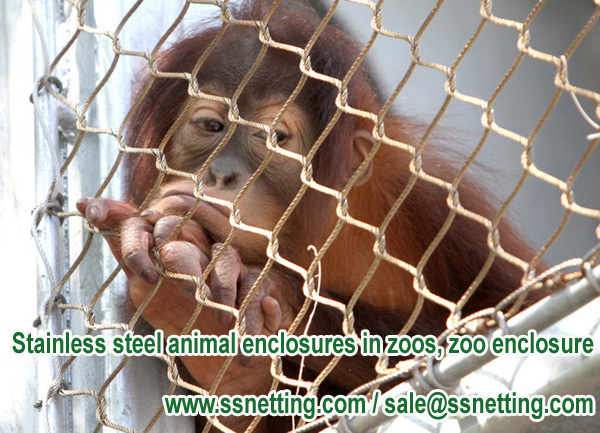 Stainless steel animal enclosures in zoos, zoo enclosure