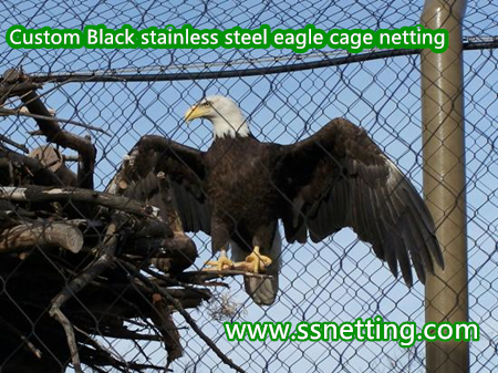 Wire rope large aviary park screen mesh for eagle enclosure fence