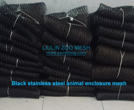 Black stainless steel animal enclosure mesh