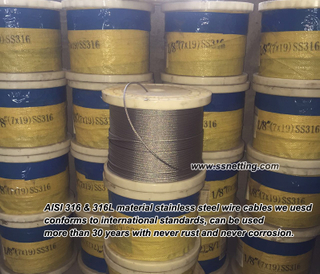 Stainless Steel Rope Mesh 316, 316L