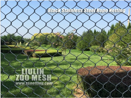 Stainless Steel Black Oxide Coated Mesh for Zoo Enclosures