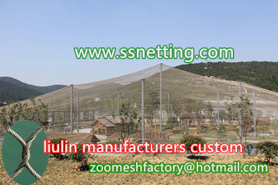 Sales of stainless steel bird netting, bird cage barrier mesh, wire rope bird net, liulin manufacturers custom