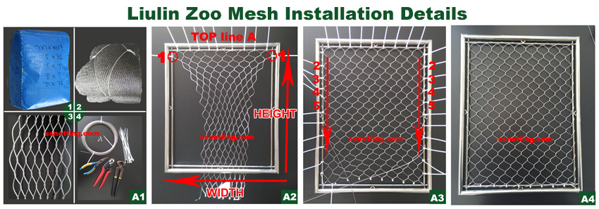 Zoo mesh panel sizes, Packing, shipping, installing
