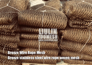 Bronze Stainless Steel Cable Mesh