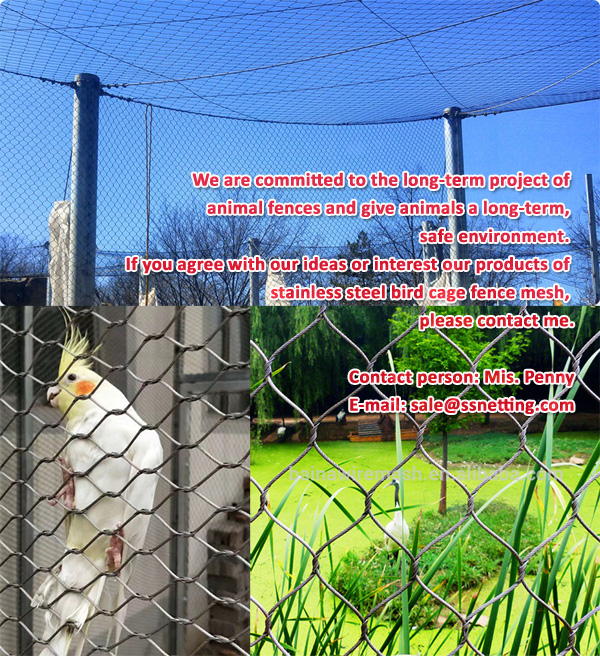 Cost of hand woven stainless steel bird cage fence mesh