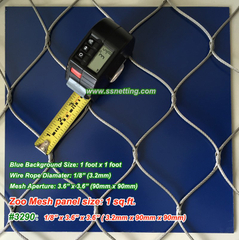 "Stainless Wire Netting 1/8"", 3.6"" x 3.6"", ( 3.2mm, 90mm x 90mm)"