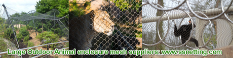 Large Outdoor Animal enclosure mesh suppliers www.ssnetting.com.jpg