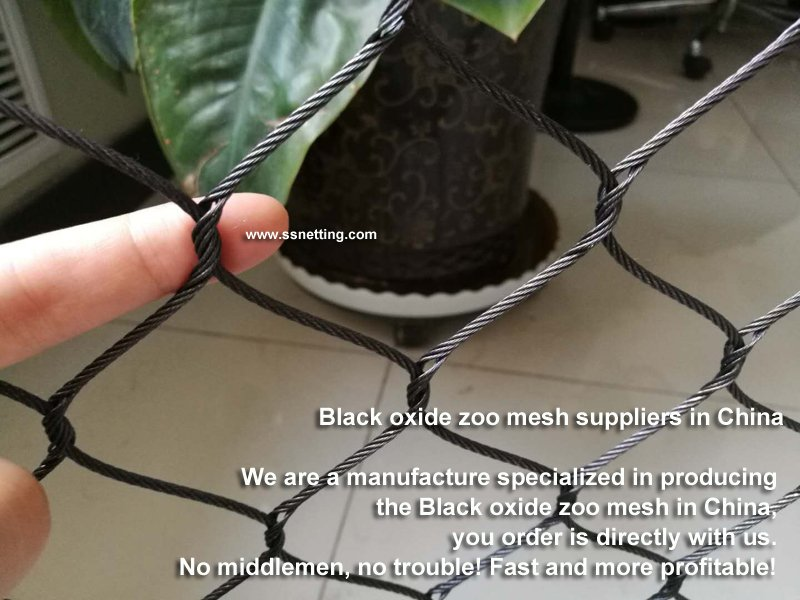 LIULIN co, ltd. is suppling the high quatity Black oxide stainless steel wire rope woven mesh