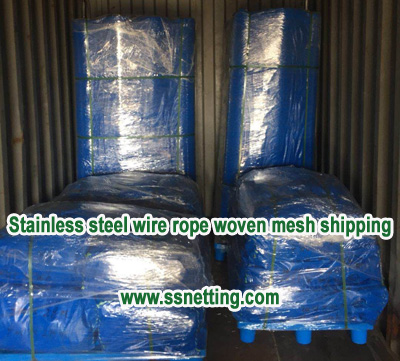 Stainless steel wire rope woven mesh shipping