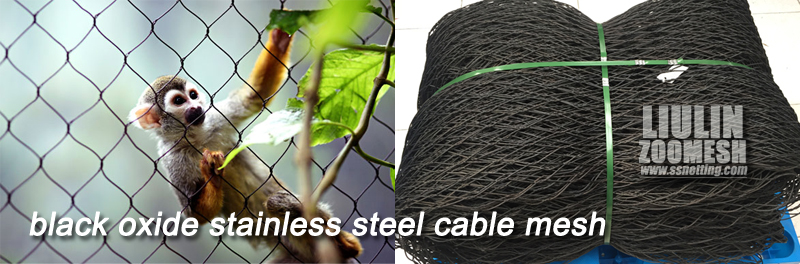 black oxide stainless steel cable mesh
