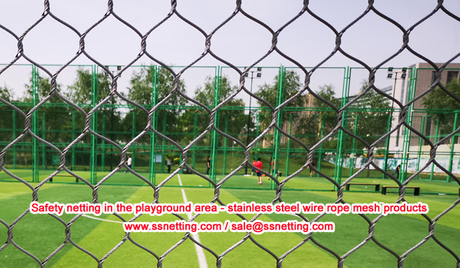 Safety netting in the playground area - stainless steel wire rope mesh products.jpg