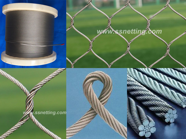 "Stainless Steel Cable Mesh 3/64"", 1.5"" X 1.5"", ( 1.2mm, 38mm X 38mm)"