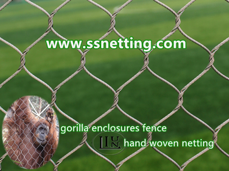 stainless steel gorilla enclosures fence mesh, gorilla cage exhibit netting