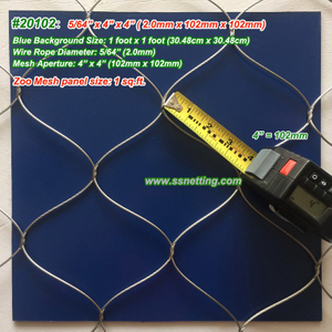 "Stainless Steel Metal Mesh 5/64"", 4"" X 4"", ( 2.0mm, 102mm X 102mm)"