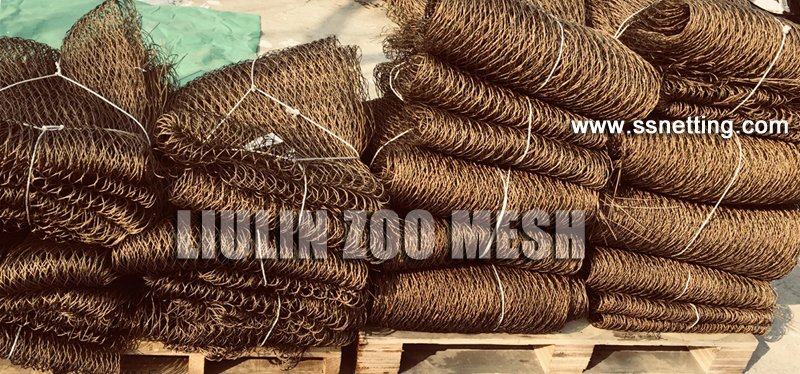 Bronze color stainless steel wire rope woven mesh