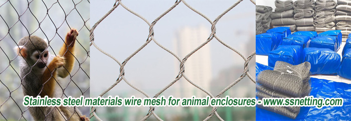 Stainless steel materials wire mesh for animal enclosures - www.ssnetting.com