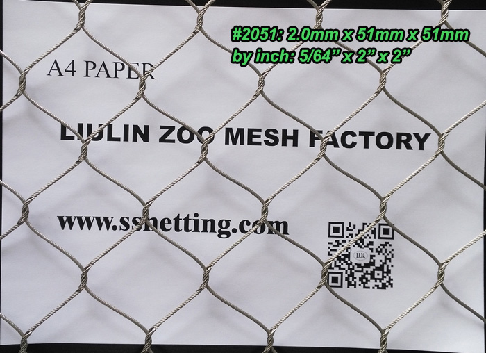 "Stainless steel rope mesh 5/64"", 2"" x 2"", ( 2.0mm, 51mm x 51mm).jpg"