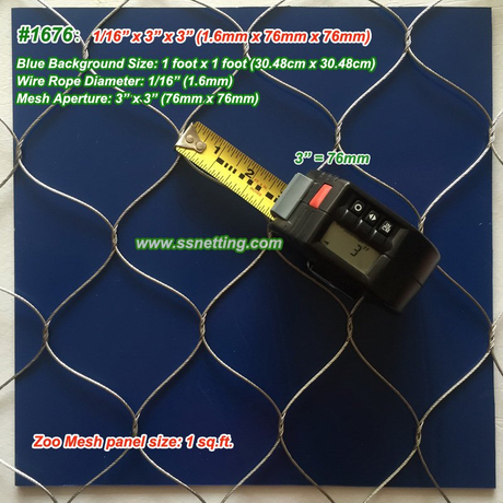 "Flexible Metal Wire Mesh 1/16"", 3"" X 3"", ( 1.6mm, 76mm X 76mm)"