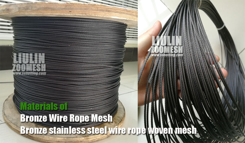 Black Stainless Steel Cable Mesh