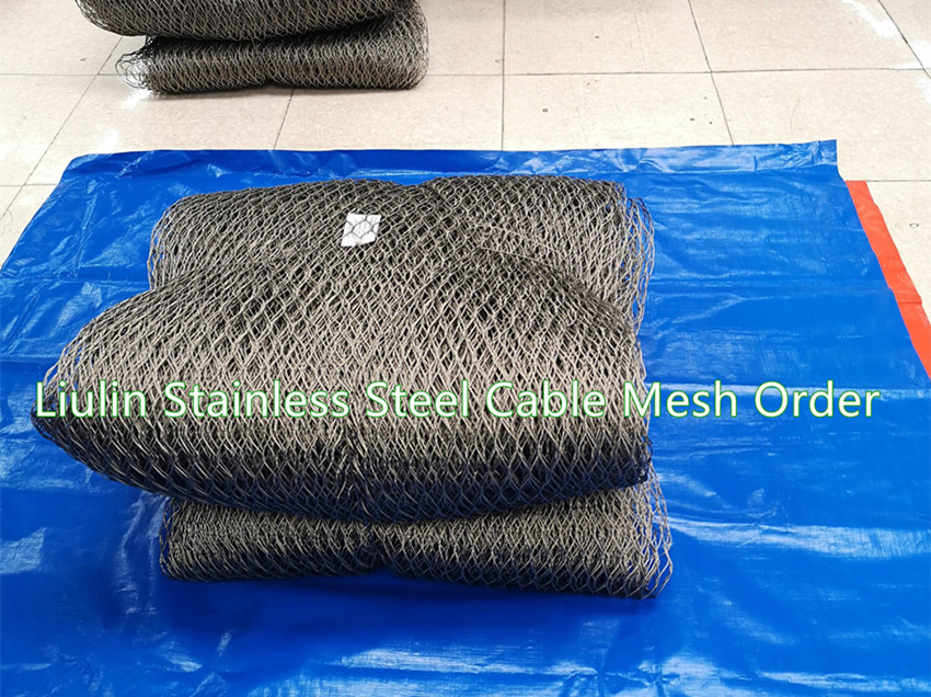 Stainless Steel Wire Rope Mesh for American Customer- Liulin Order Sent