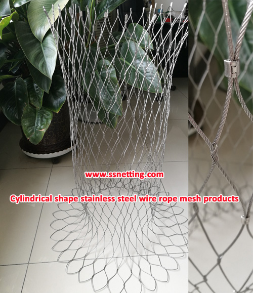 Cylindrical shape stainless steel wire rope mesh products